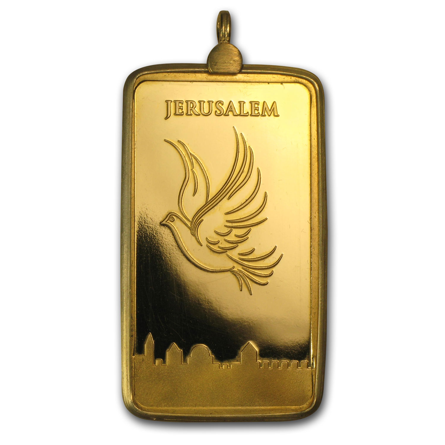 1/2 oz Gold Bar Dove of Peace Gold Pendant
